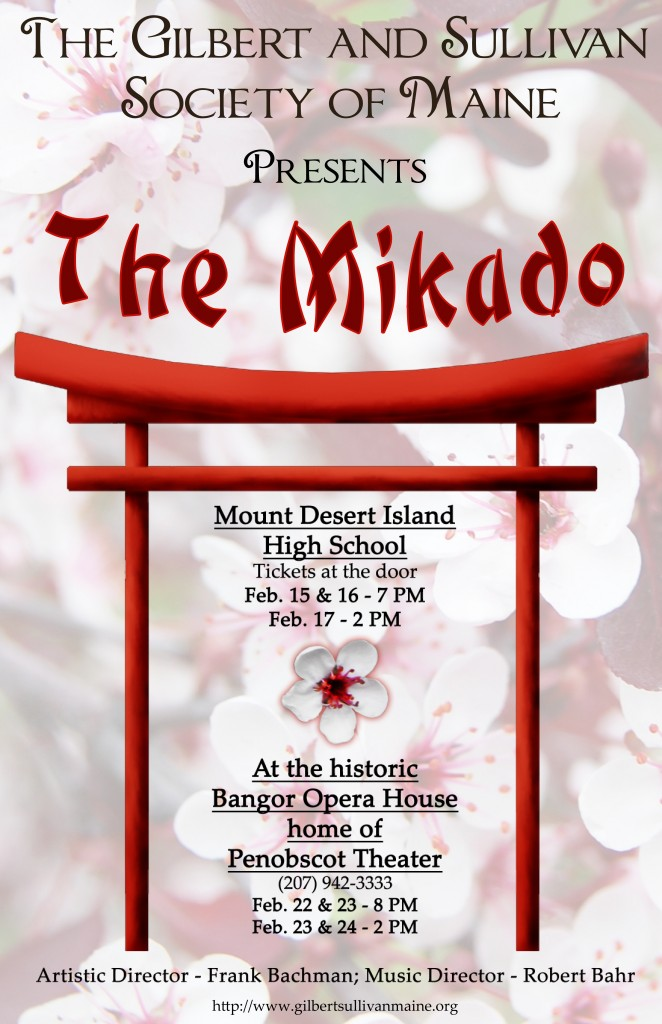 Poster for GSSME's 2013 production of The Mikado!